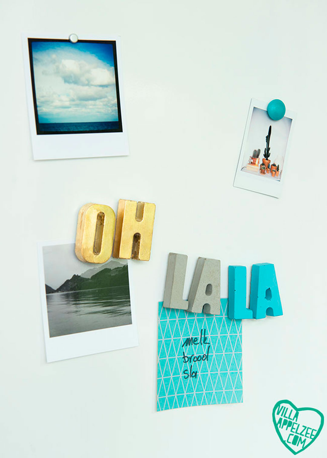 DIY koelkastmagneten letters in beton