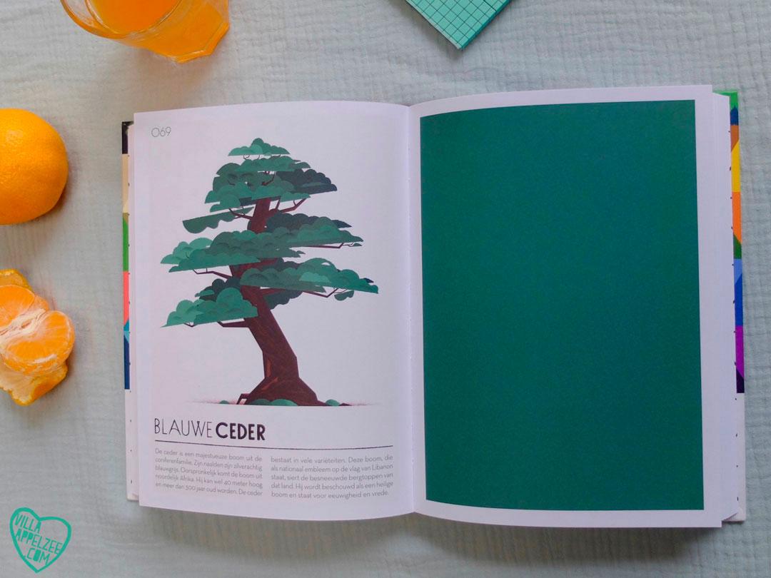 Kleur 'Blauwe Ceder' uit boek 'Colorama'.
