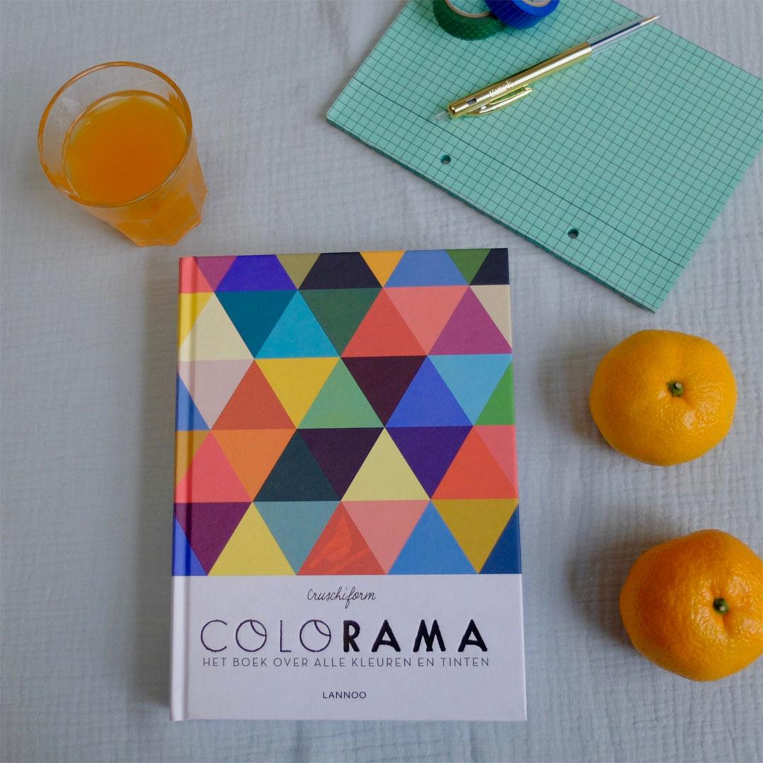 Boek 'Colorama' Auteur: Cruchiform. Uitgeverij Lannoo.