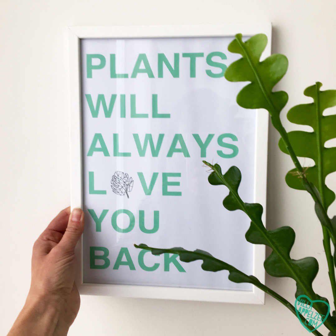 Quote 'Plants will always love you back'