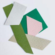 Collage papiersnippers in trendkleuren 2019