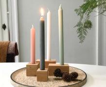 DIY adventsrans met houten speelgoedblokken van Villa Appelzee