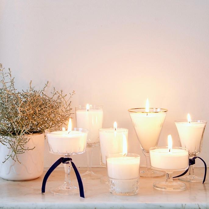 DIY kaarsen in glas