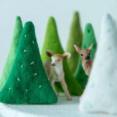 DIY mini-kerstboompjes uit vilt - Villa Appelzee