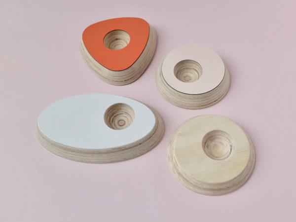 Design eierdopjes, gerecycleerd materiaal