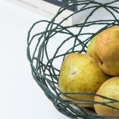 DIY mand van groen touw, appelzee.com. Foto: Karel Daems