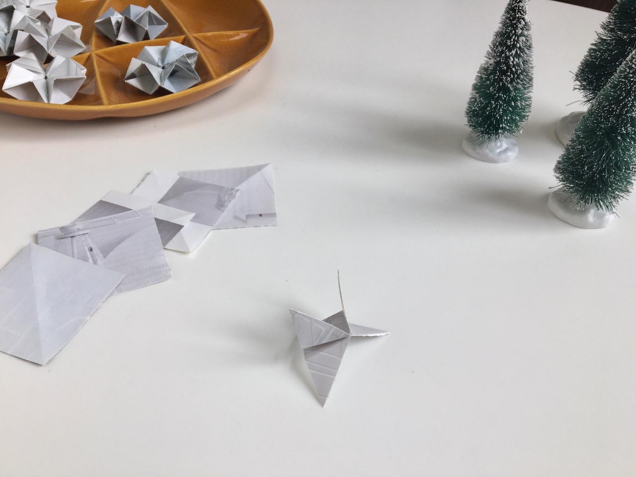 DIY Tutorial Origami ster Villa Appelzee